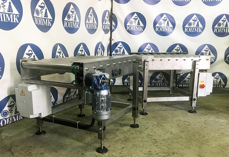 Рольганг приводной для перемещения готовой продукции в коробах